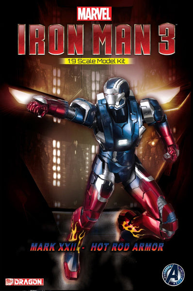 Dragon Models Iron Man 3 - Mark XXII - Hot Rod Armor Model Kit (1/9 Scale)