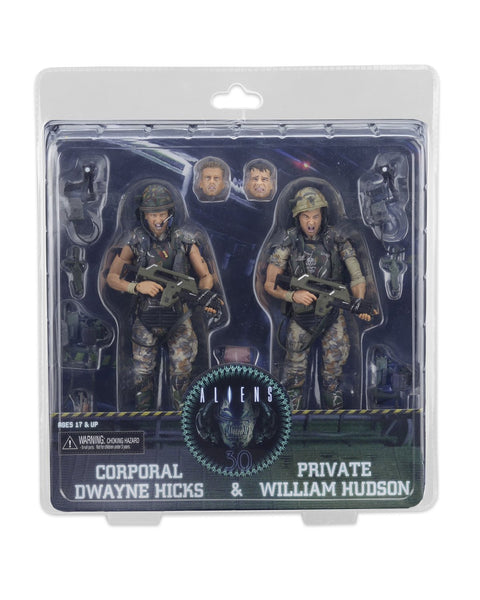 Aliens 30th Anniversary Hicks and Hudson 2-Pack NECA