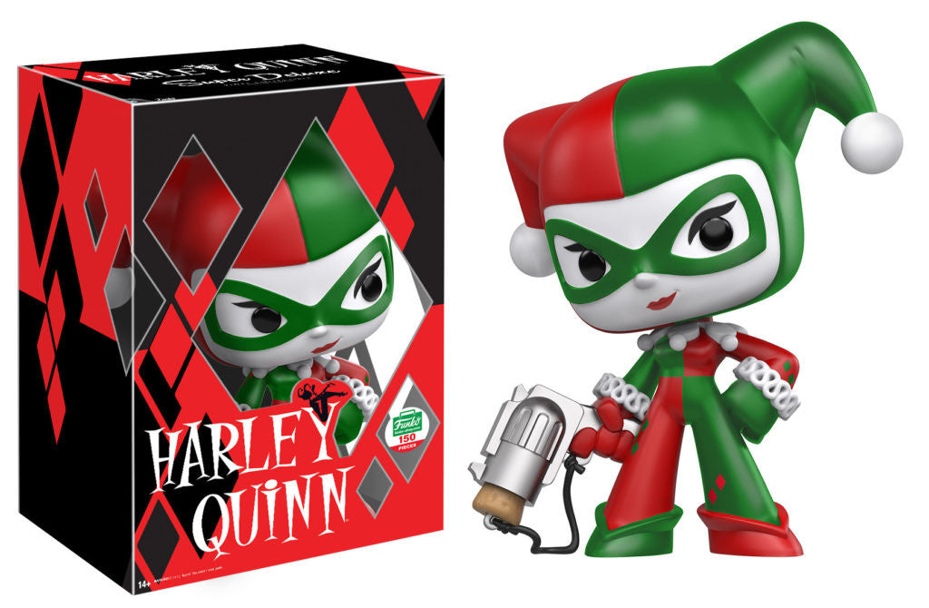 Harley Quinn Christmas.Funko S 12 Days Of Christmas Day 9 Super Deluxe Christmas Harley Quinn Funko Pop
