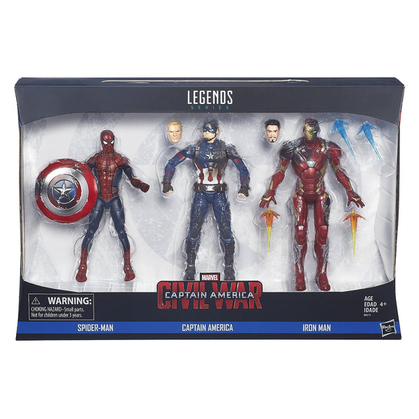 Marvel Legend civil war Spider-Man, Captain America, and Iron Man Set
