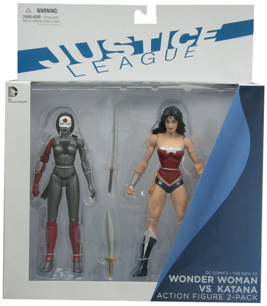 DC Collectibles DC Comics The New 52: Wonder Woman vs. Katana Action Figure, 2-Pack