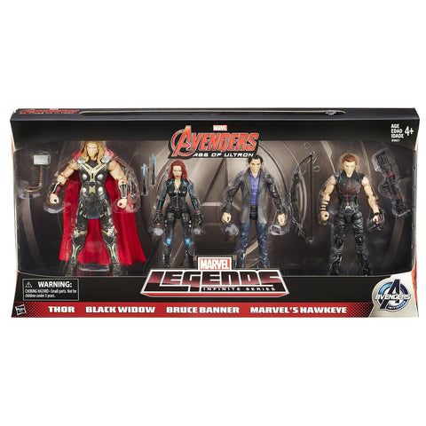 Avengers Movie Legends Action Figure (Pack of 4) 6""