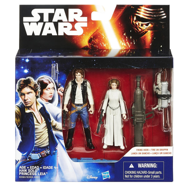 Star Wars A New Hope 3.75-Inch Figure 2-Pack Space Mission Han Solo and Princess Leia