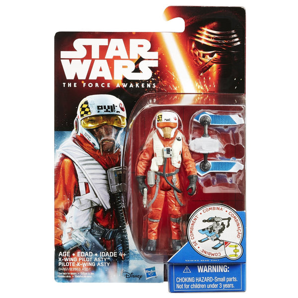 Star Wars The Force Awakens 3.75-Inch Figure Snow Mission Wave 2 X-Wing Pilot Asty