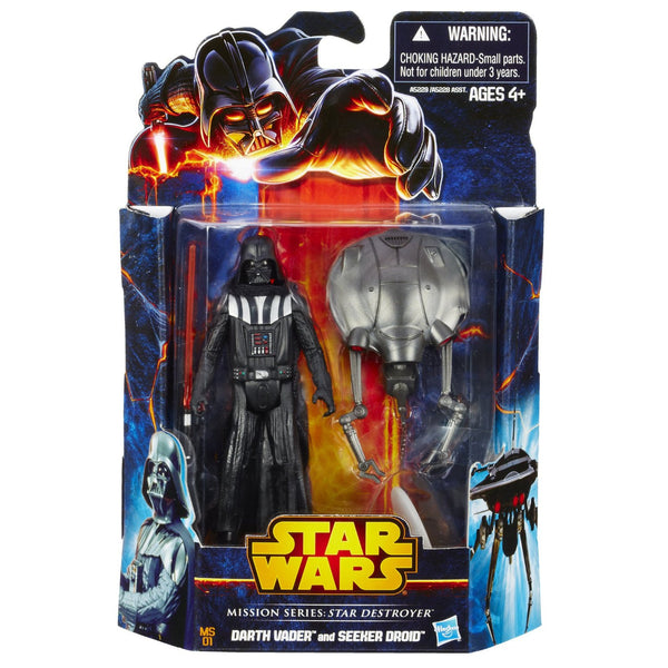 Star Wars, Mission Series Star Destroyer Pack [Darth Vader and Seeker Droid], 3.75 Inches