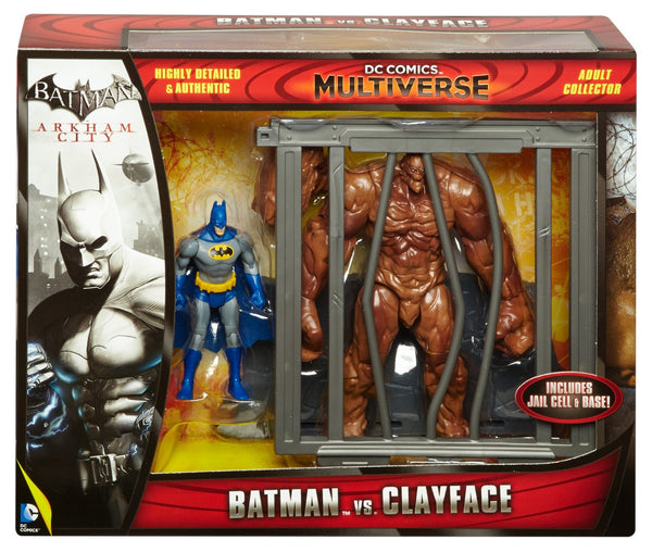 "DC Comics Multiverse: 4"" Classic Comic Skin Batman and Clayface Figure 2-Pack"