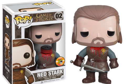 Funko pop game of thrones head off Ned stark exclusive