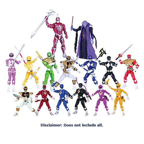 Mighty Morphin Power Rangers Legacy 5-Inch Action Figure Wave 1 Set