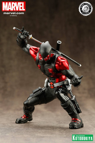 Kotobukiya Deadpool Black Suit Limited Edition ARTFX Statue