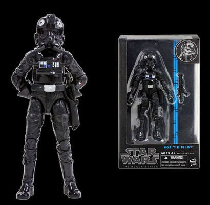 Star Wars Black Series Tie Pilot 6""