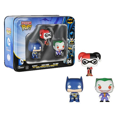 Batman DC Comics Pocket Pop! Mini Vinyl Figure 3-Pack Tin