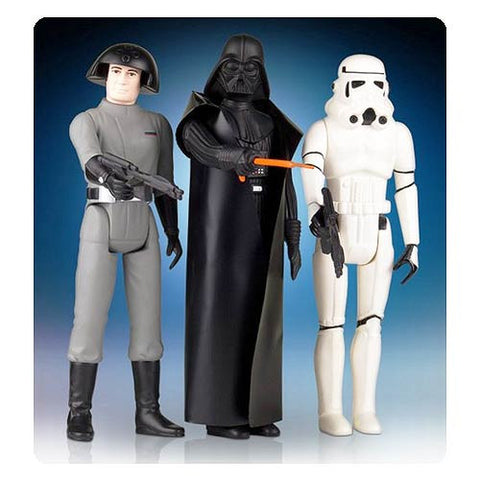 Star Wars Jumbo Villain Kenner Action Figure Special Set - Darth Vader, Stormtrooper, and Death Squad Commander