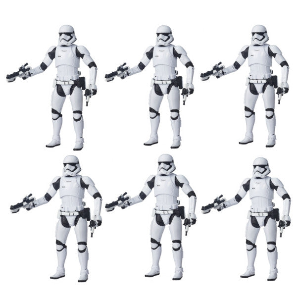Star Wars Episode 7 The Force Awakens 6 Inch Black Series Set of 6 First Order Stormtrooper Action Figure