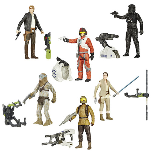 Star Wars: The Force Awakens 3 3/4-Inch Jungle and Space Action Figures Wave 4 Set