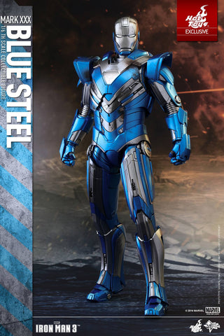 Hot Toys Iron Man Mark XXX Blue Steel Armor Figure