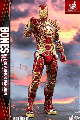 Iron Man 3 – Mark XLI Bones Armor Retro Color Figure by Hot Toys marvel