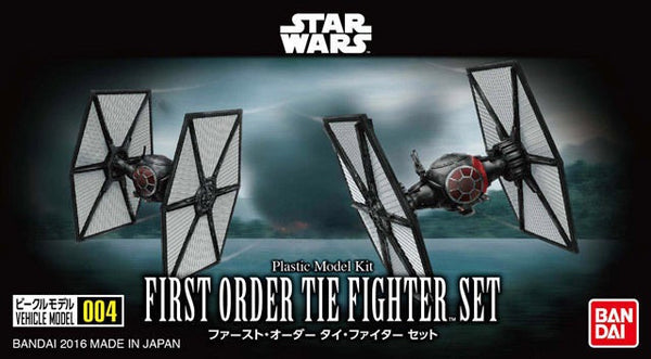 Bandai Star Wars box scale model first order special forces tie fighter