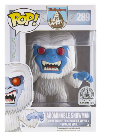 Funko pop Disney land exclusive Matterhorn Bobsleds Abominable Snowman Pop