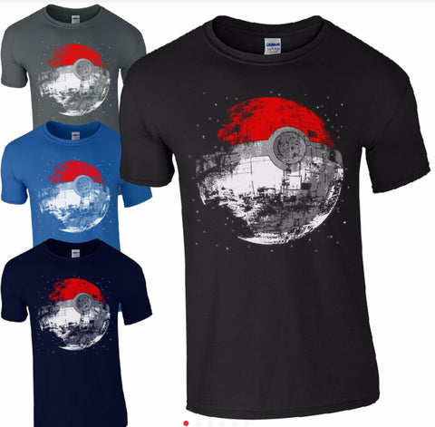 Pokémon Death Star t shirt