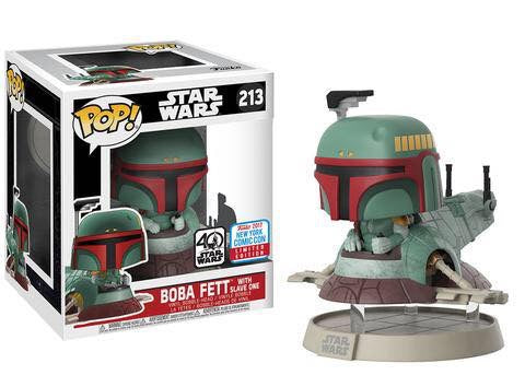 Funko nycc exclusive slave one ride boba fett