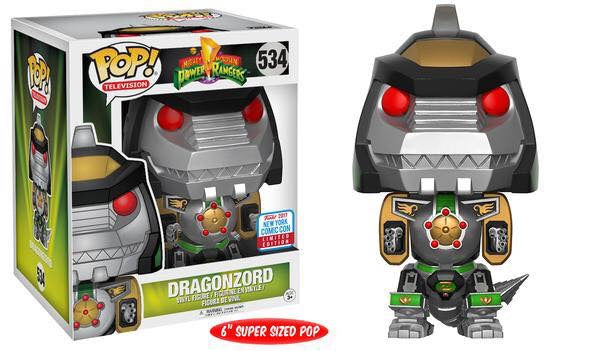 Funko pop nycc exclusive power ranger dragonzoid