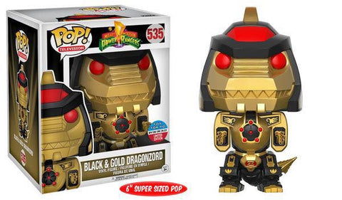 Funko pop nycc exclusive power ranger black and gold dragonzoid