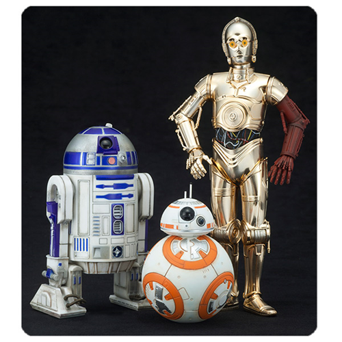 Star Wars: Episode VII - The Force Awakens C-3PO R2-D2 and BB-8 Artfx+ 1:10 Scale Statue Set