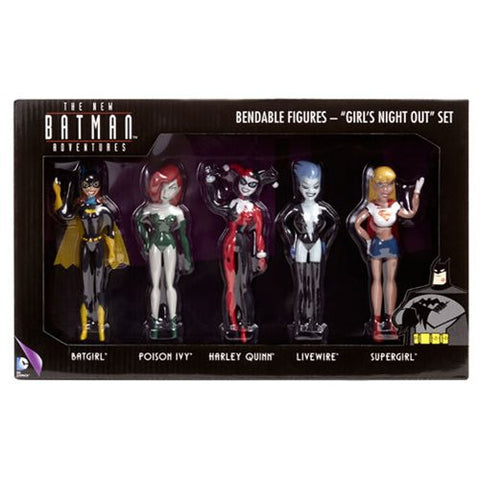 Batman: The New Batman Adventures Girls Night Out Bendable Action Figure Boxed Set DC