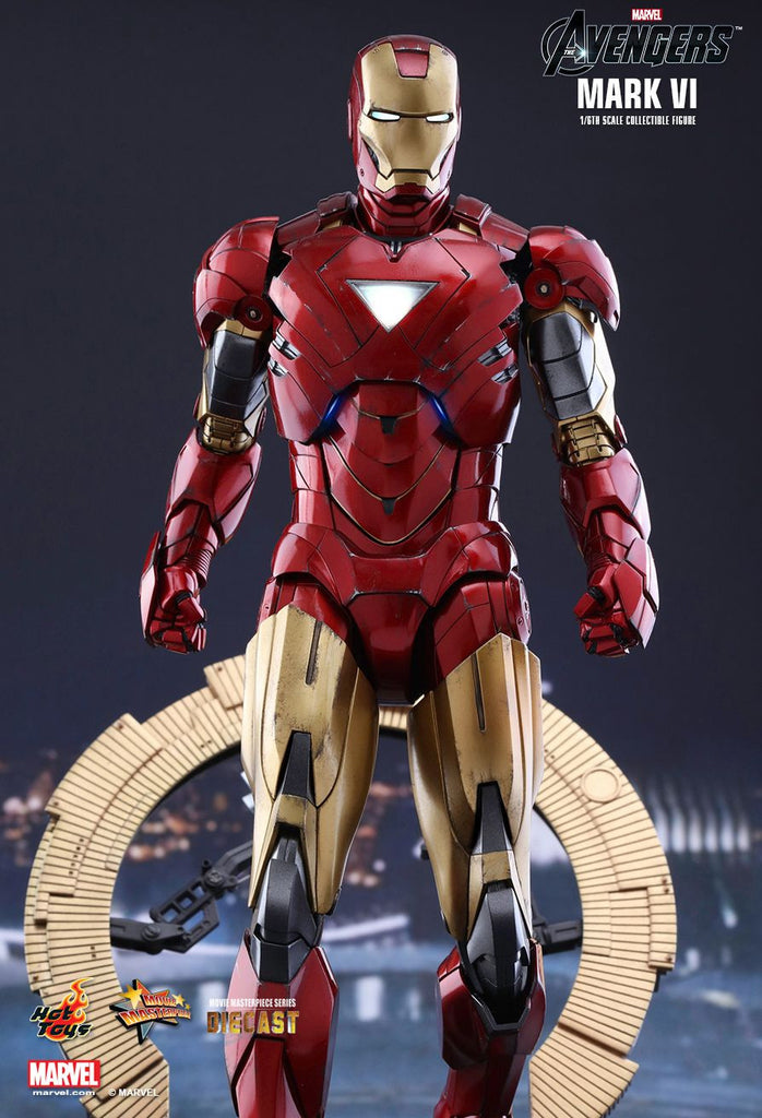 Hot Toys Marvel Avengers Iron Man Mark Vi W Battle Damage