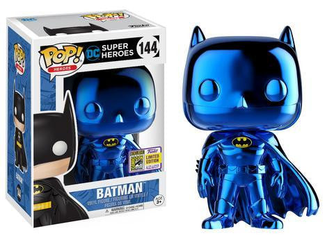 FUNKO EXCLUSIVE SDCC 2017 DC Batman Blue Chrome
