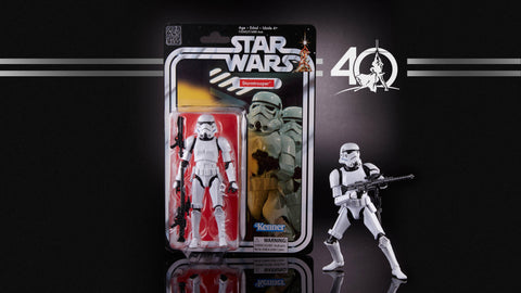 Star Wars 40th anniversary stormtrooper Black Series Hasbro