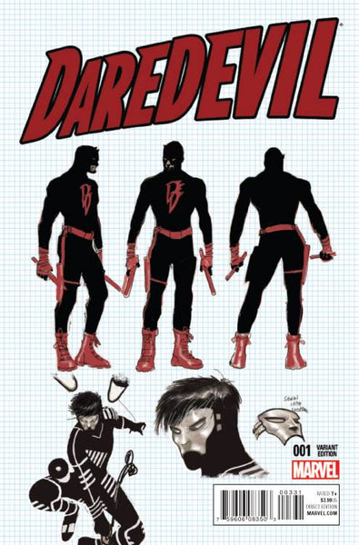 DAREDEVIL VOL. 5 #3 RON GARNEY DESIGN VARIANT