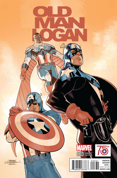 OLD MAN LOGAN VOL.2  #3 TERRY DODSON CAPTAIN AMERICA 75TH ANNIVERSARY VARIANT