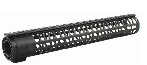 15 Inch Free Float One Piece Handguard Rail Mount System BLACK fit M series Platform Rifles