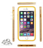 Apple I phone 6 Aluminium bumper with diamond studs.