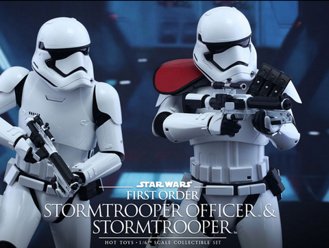 Hot Toys First Order Stormtrooper Officer and Stormtrooper Star Wars Pre order