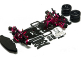 Alloy & Carbon 1:10 RC Drift Car Kit For 3Racing Sakura D4 AWD 4WD