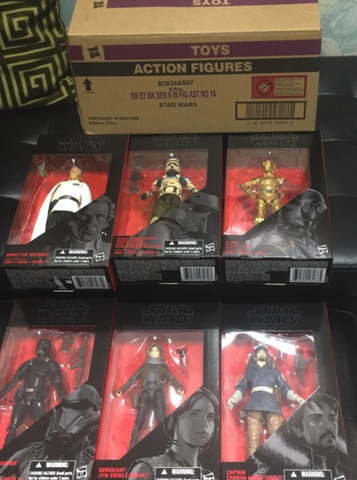 Star Wars Black Series Rouge 1 Wave 2 Set of 6