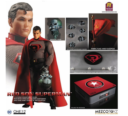 1/12 One:12 Collective DC Comics Previews Exclusive Superman Action Figure Red Son Ver