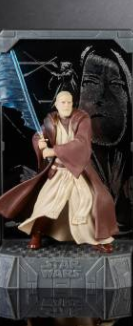 Star Wars 40th Anniversary Titanium Figure OBI WAN 3.75""