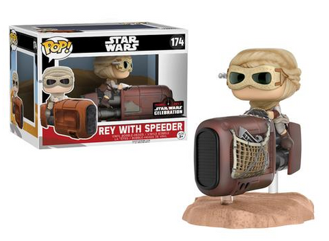FUNKO Star Wars Celebration Exclusive Rey with a Speeder Pop