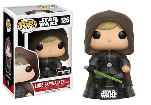 FUNKO Star Wars Celebration Exclusive Pop!: Hooded Jedi Luke