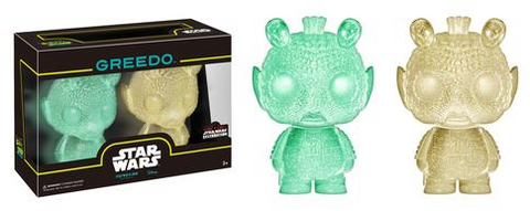 Mini Hikari: Green & Gold Greedo 2-pack funko pop Star Wars Celebration Exclusive