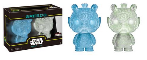 funko pop Star Wars Celebration Exclusive Mini Hikari: Blue & Clear (Green Glitter) Greedo 2-pack