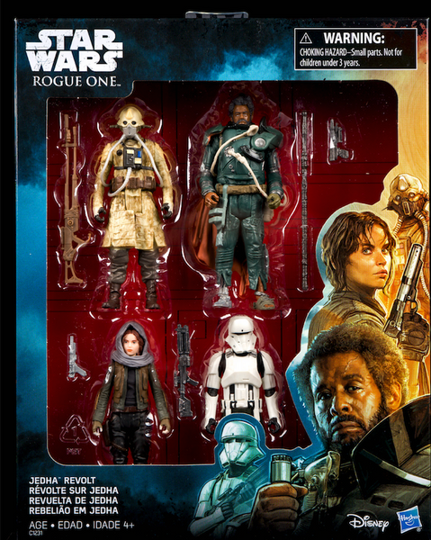 Star Wars Hasbro Rouge One Jedah Revolt 4 pack