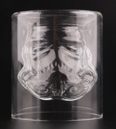 STAR WARS Whiskey Glass Star Wars Stormtrooper Beer Double Layer Wine Whiskey Water Crystal Glass Cup Bottle 300-400 ml