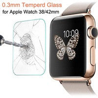 2015 Apple Watch iwatch Accessories: iWatch Tempered Glass Screen Protector And Back Case Combo