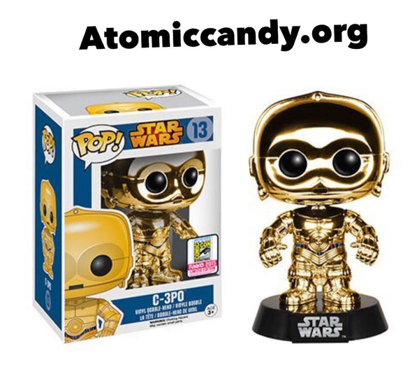 FUNKO SDCC EXCLUSIVE STAR WARS 3CPO GOLD
