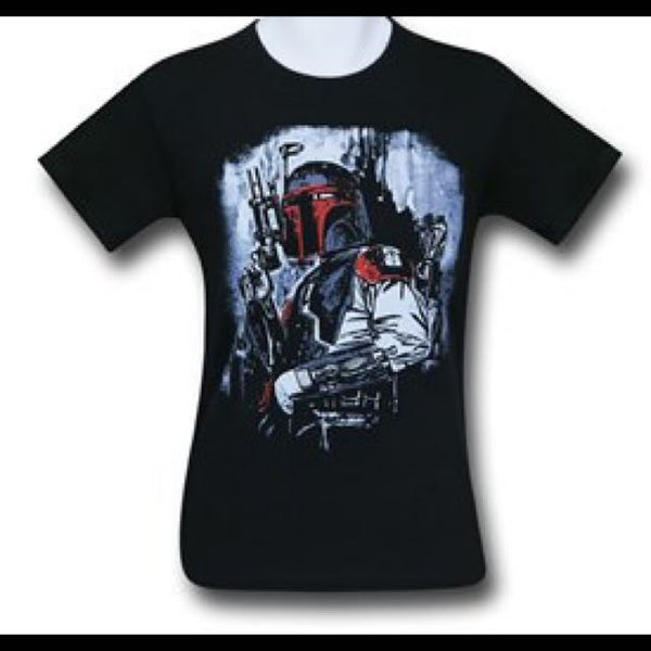 Boba Red Black T Shirt