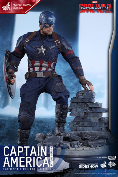 Marvel Hot Toys Captain America Civil War Movie Promo Battle Version.